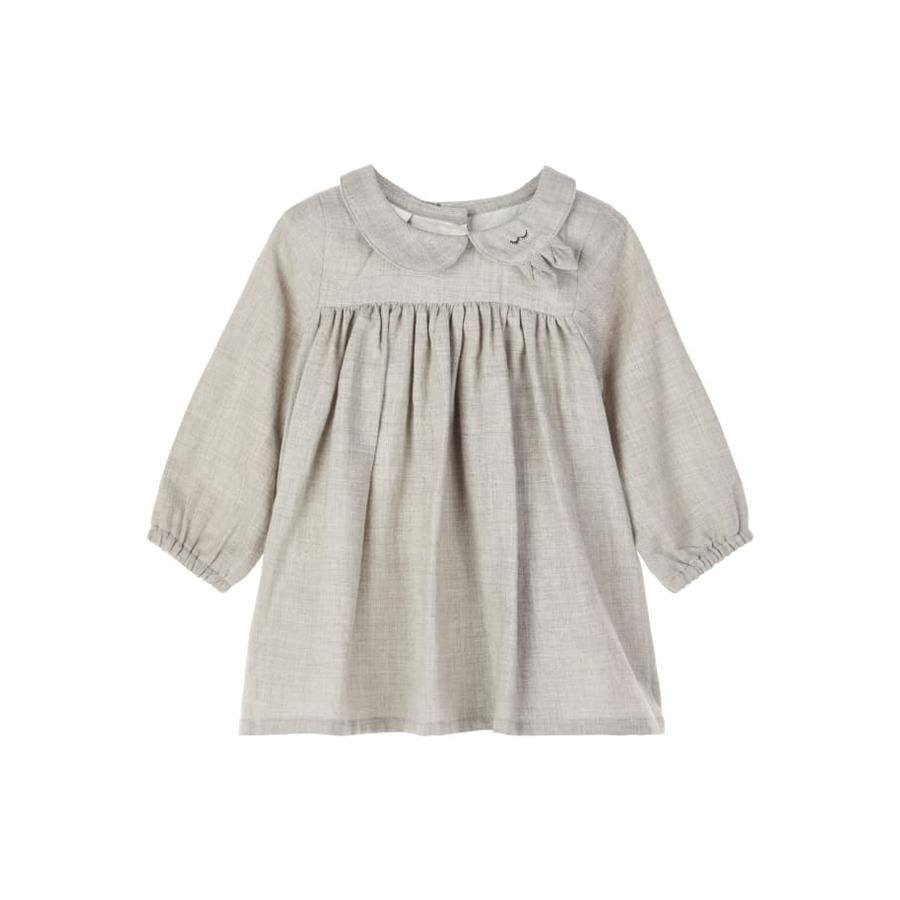 name it Girls Dress Odille Grey Melange
