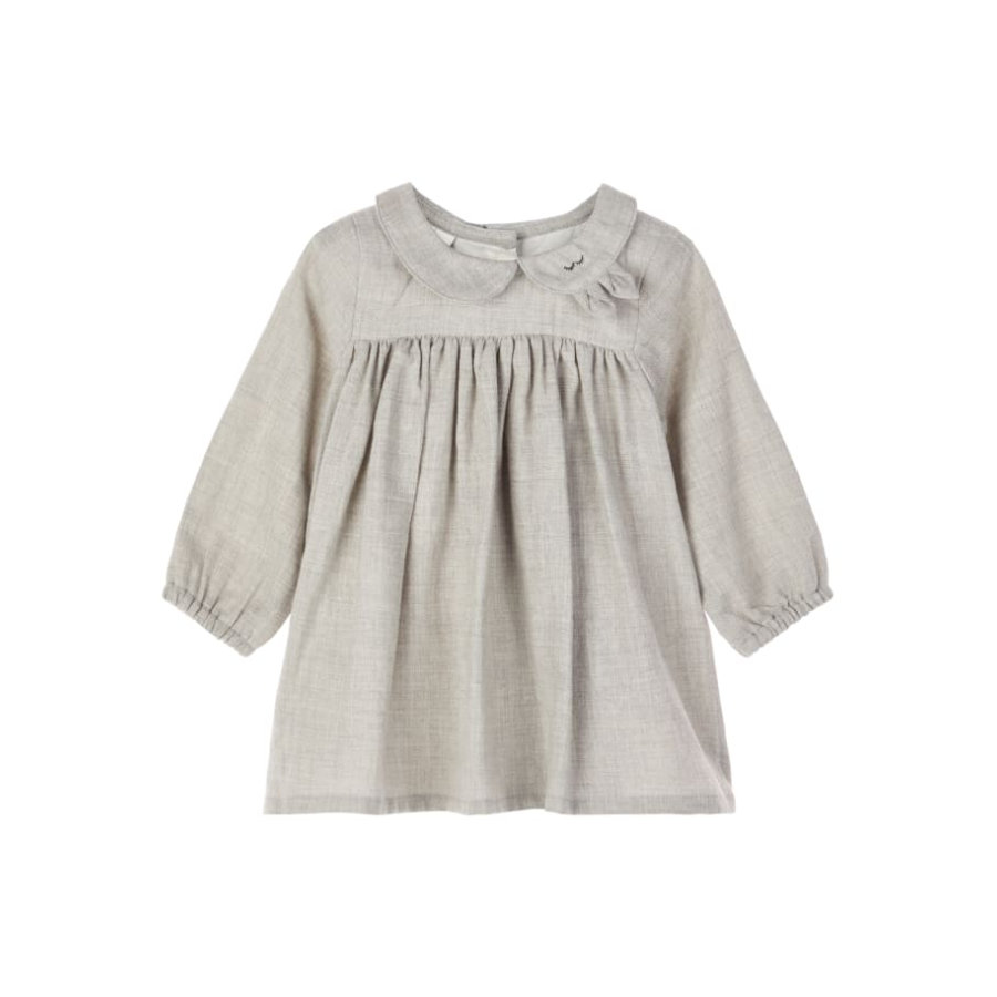 name it Girls Robe Odille Grey Melange