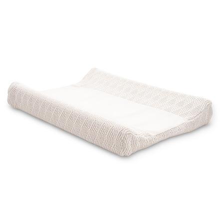 jollein Housse de matelas à langer River knit cream white 50x70cm