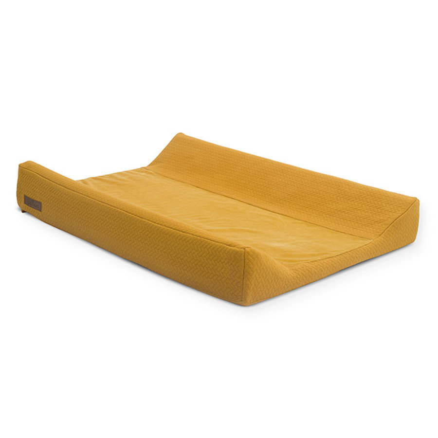 jollein Pokrowiec na przewijak Brick velvet mustard 50x70cm