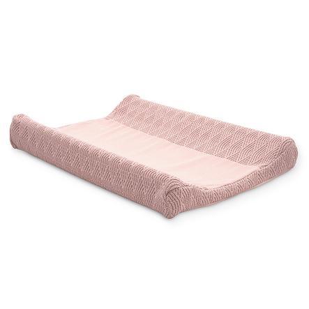 jollein Housse de matelas à langer River knit pale pink 50x70 cm