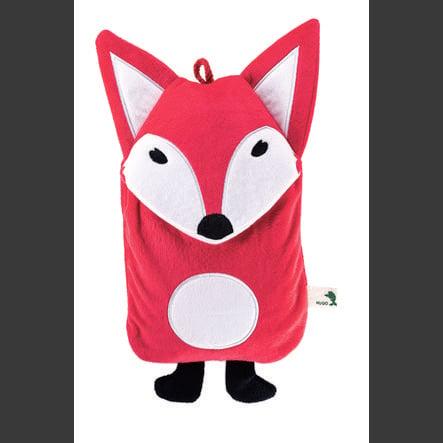 HUGO FROSCH Varmtvannsflaske Öko 0,8 L velour deksel Fuchs rød