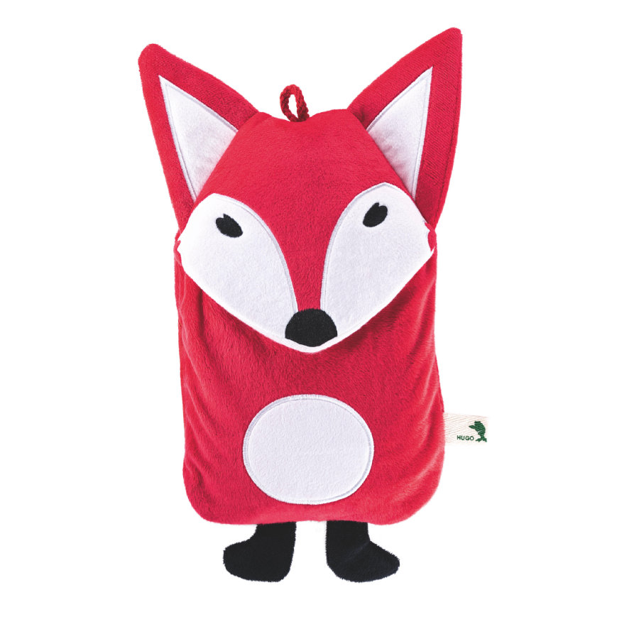 HUGO FROSCH Wärmflasche Öko 0.8 L Veloursbezug Fuchs rot