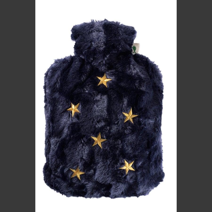 HUGO FROSCH Wärmflasche Klassik 1.8 L Flauschbezug Sterne
