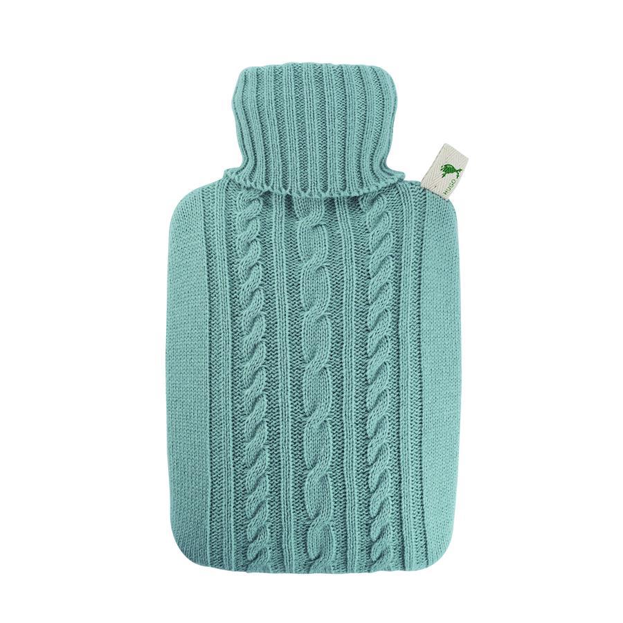HUGO FROSCH Bouillotte enfant classique 1,8 l housse tricotée bleu pastel