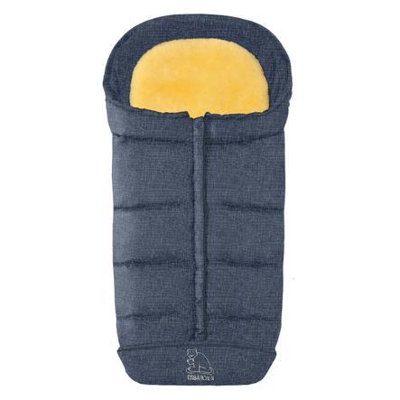 Heitmann Chancelière pour poussette universelle hiver Confort 2en1, mélange bleu