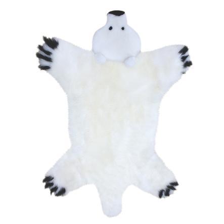 Heitmann Tapis de jeu enfant laine d'agneau ours polaire 130x80 cm