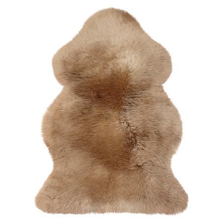 Heitmann Tapis de jeu laine d'agneau australienne chameau 100x68 cm
