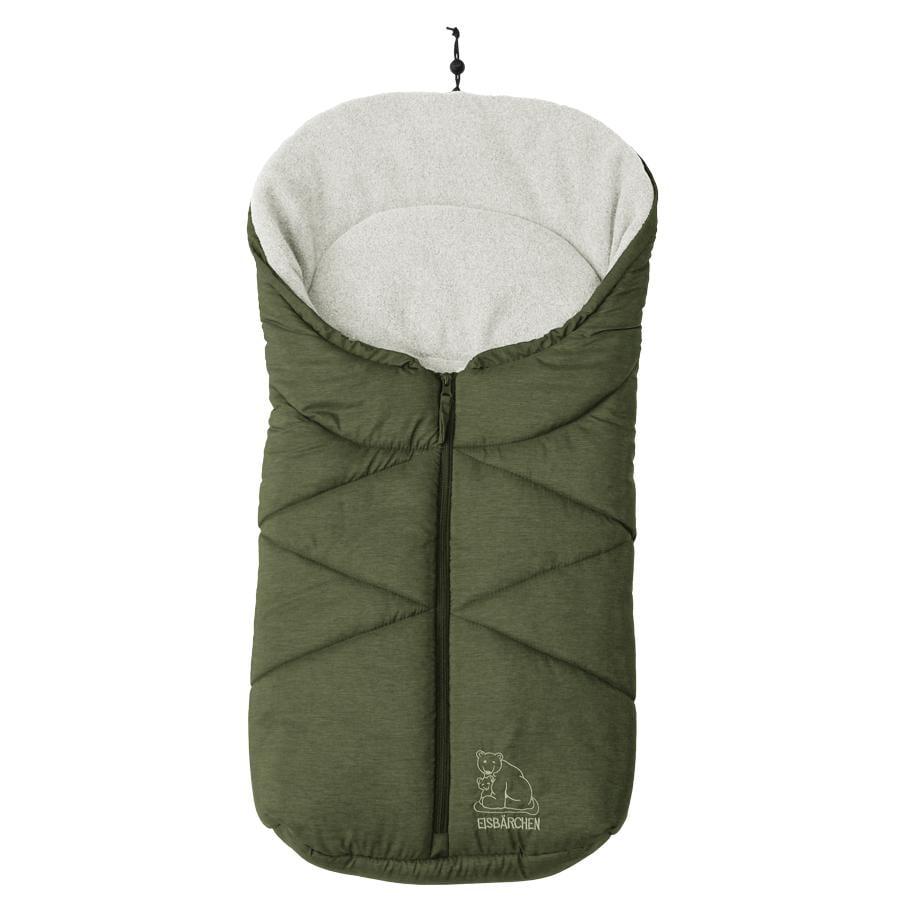 Heitmann Kørepose til babyautostole og barnevogne Isbjørn mørkegrøn-meleret