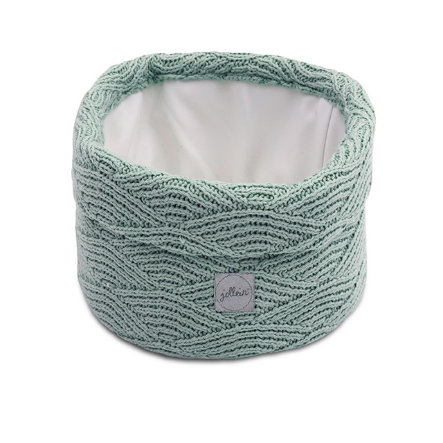 jollein Panier rangement de jouets River knit ash green