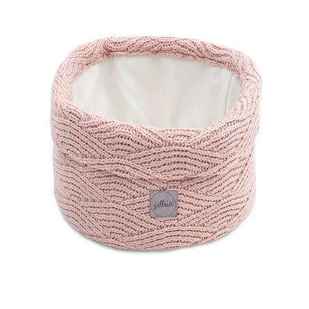 jollein Panier rangement de jouets River knit ash pink