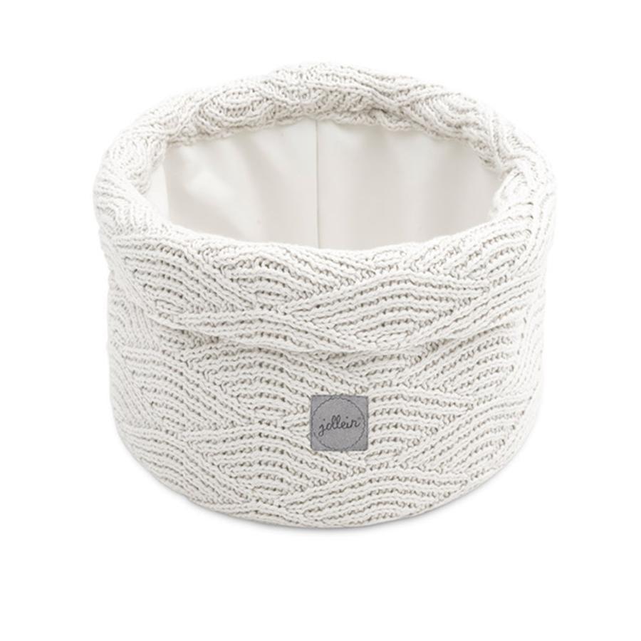 jollein Utensilo River knit cream white