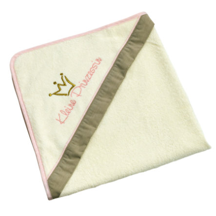 Be Be Be 's Collection Toalla de baño con capucha Little Princess Ecru/rose 80 x 80 cm