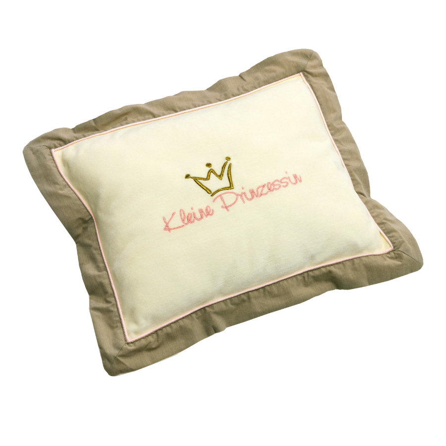 Be Be 's Collection Kuschelkissen Kleine Prinzessin ecru/rose 30 x 40 cm