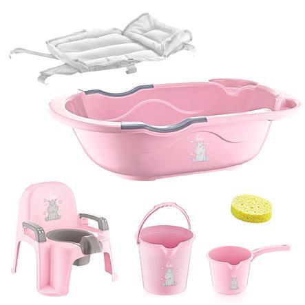 BabyJem Bath set 6 dílů růžový