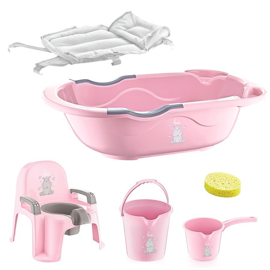 babyJem Zestaw kąpielowy 6 elementów pink