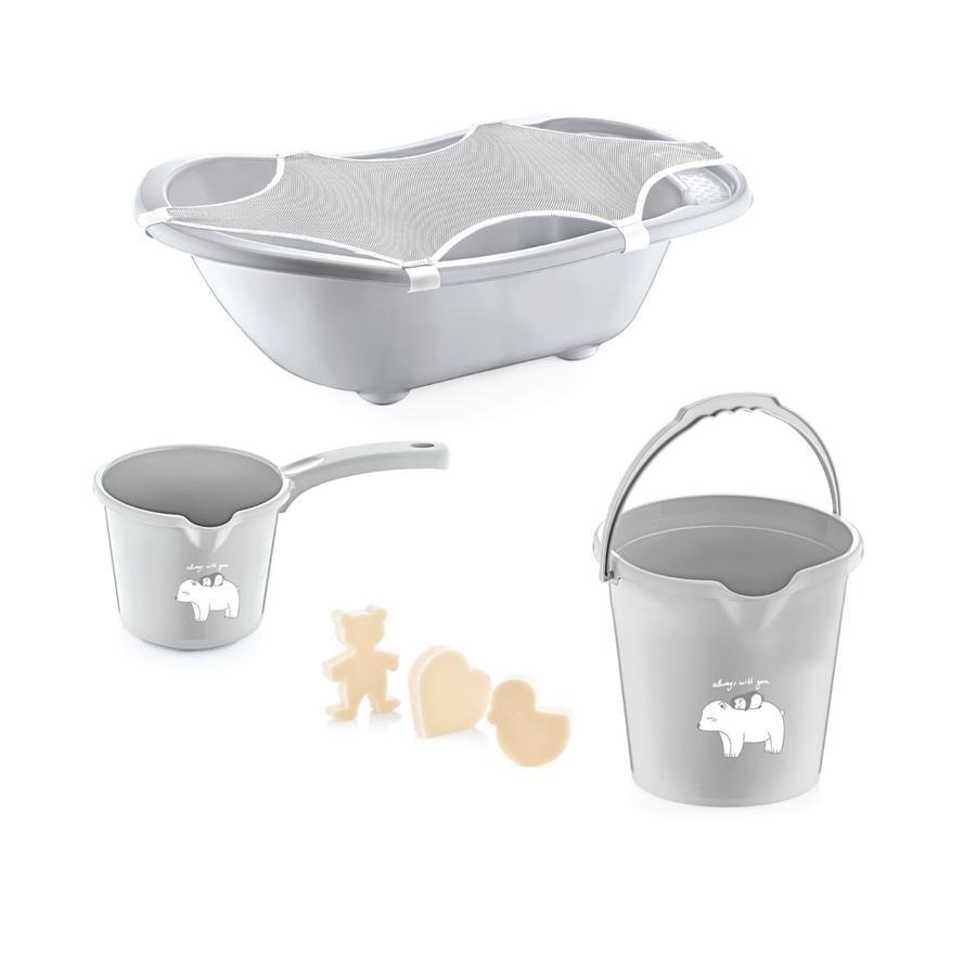 babyJem Zestaw kąpielowy 5 elementów grey