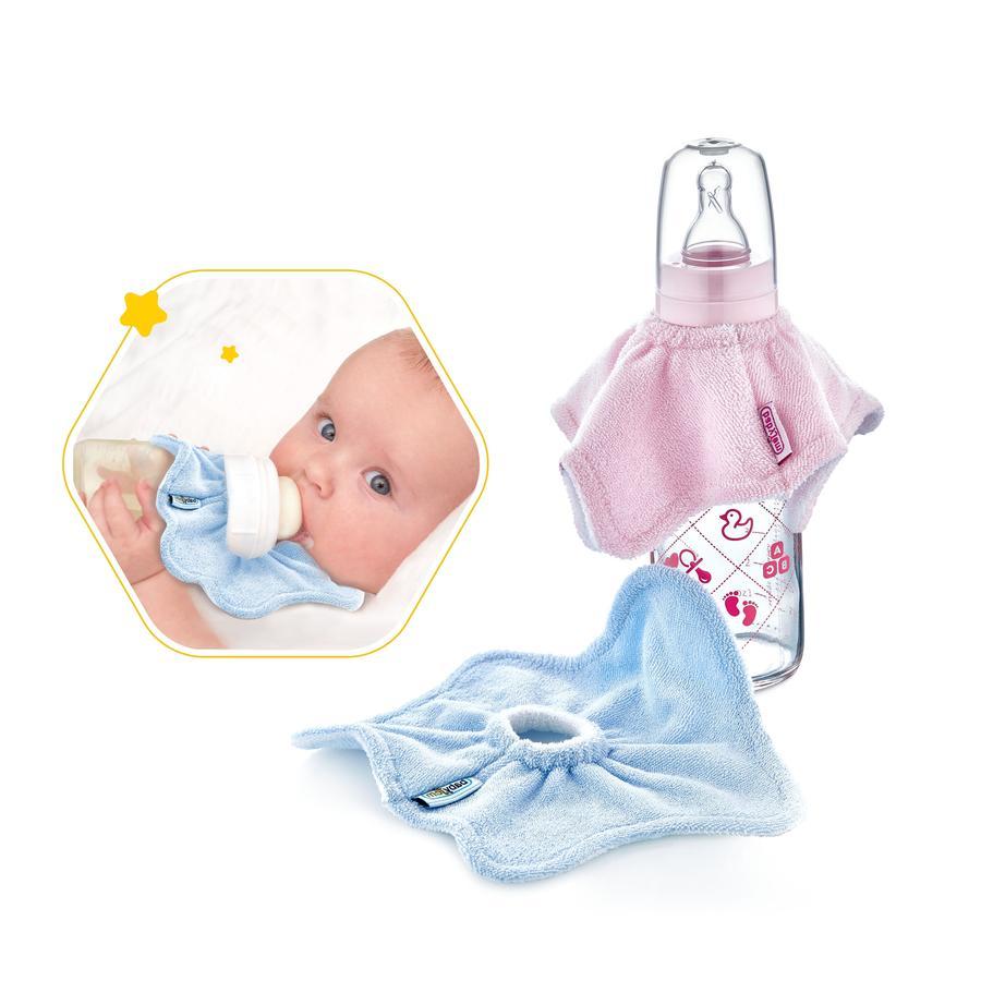 BabyJem Drop bib pro dětské lahve růžová