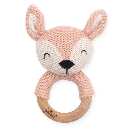 Jollein Beißring Ø 7cm Deer pale pink