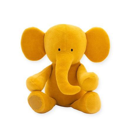 jollein Peluche éléphant jaune moutarde