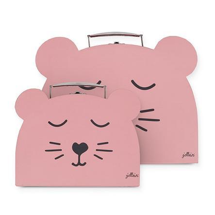 Jollein Caja de juguetes Animal club rouge set de