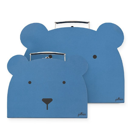 Jollein Caja de juguetes Club steel de animales azul set de