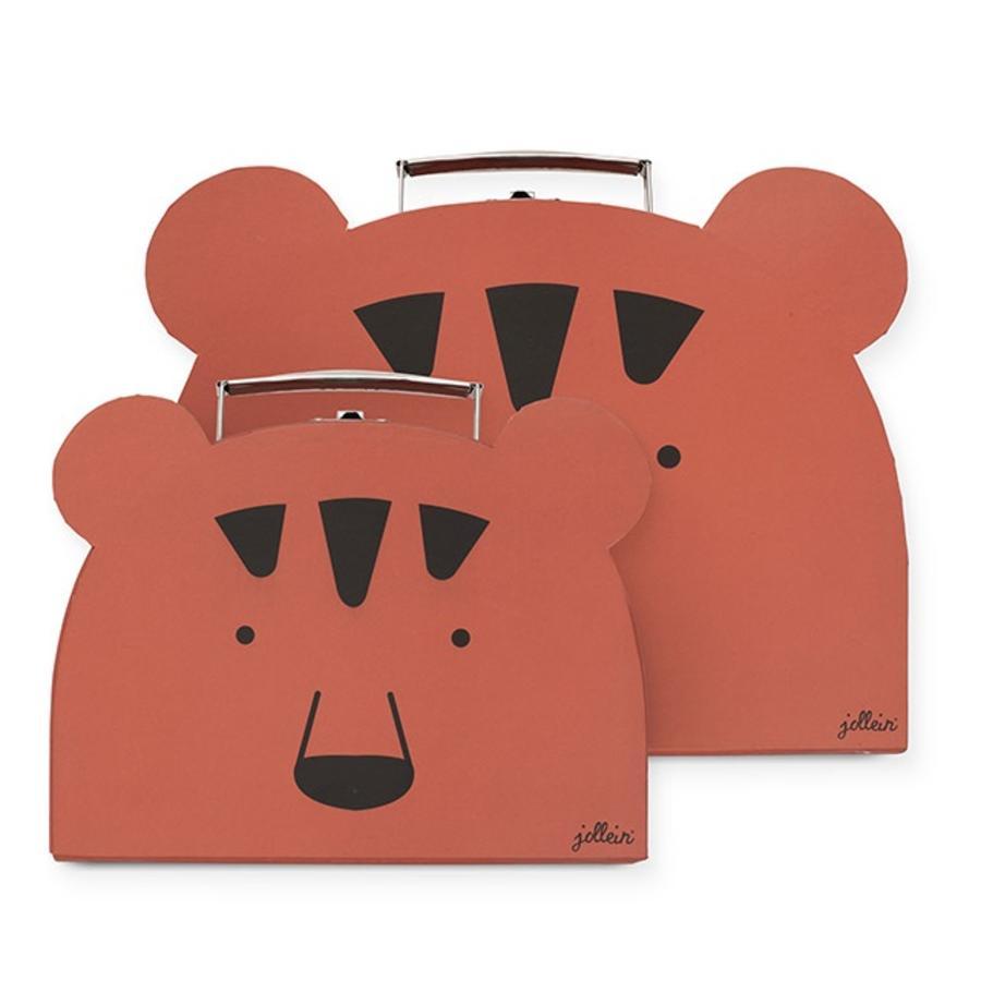 Pouzdro na hračku Jollein Animal club rust set of