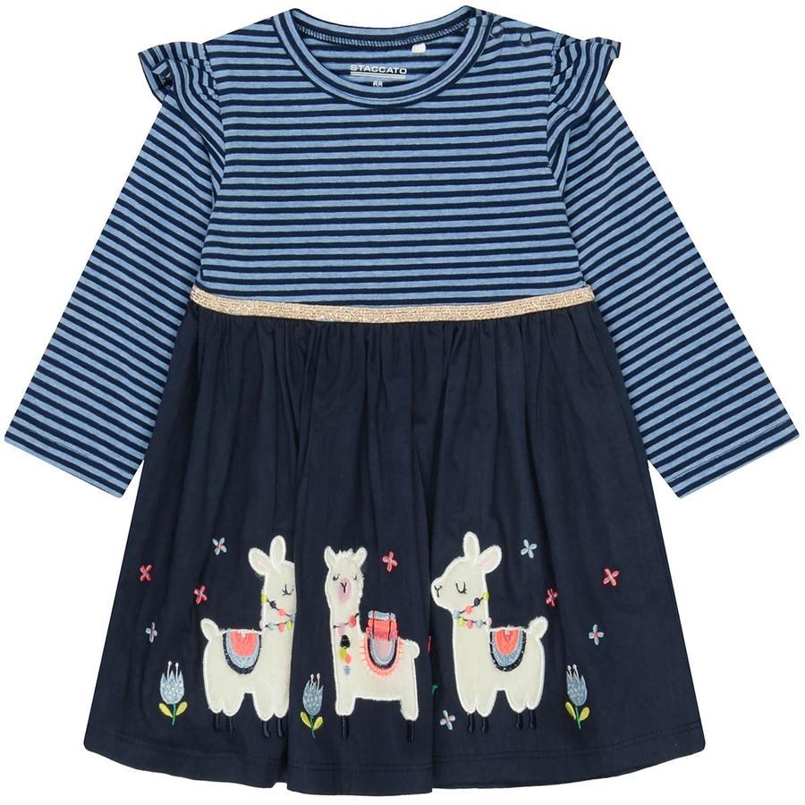 STACCATO  Girls šaty inkoustové pruhované