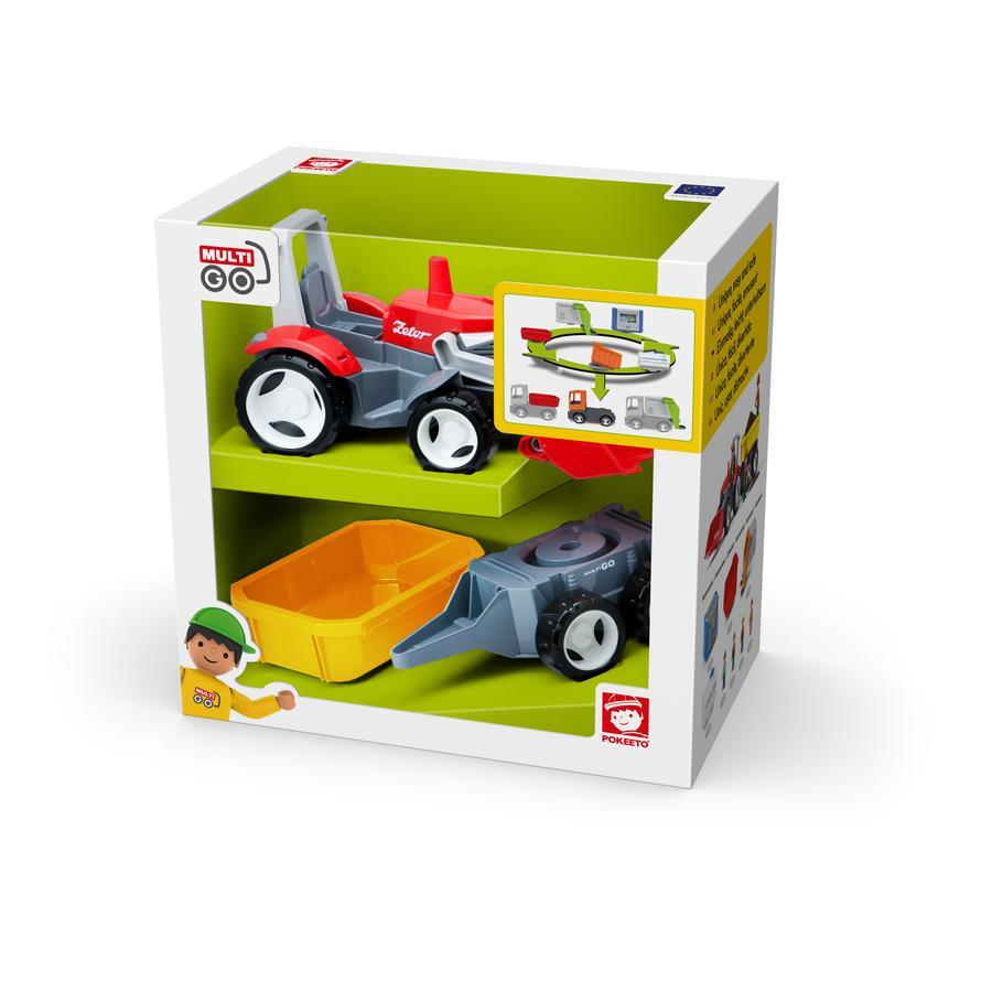 Efko Traktor s přívěsem a přídavnými zařízeními
