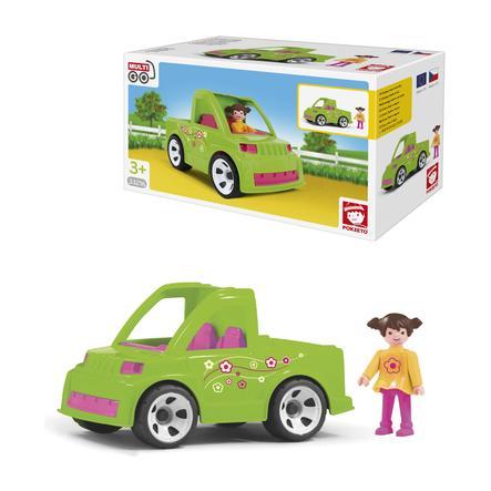 efko coche con figura de jardinero