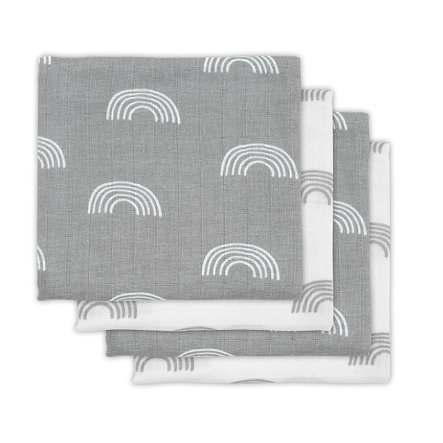 jollein Mullwindeln 4er-Pack Rainbow grey 70x70cm