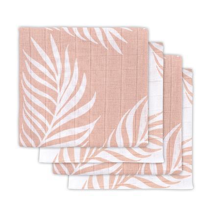 jollein Langes bébé Nature pale pink 70x70 cm lot de 4