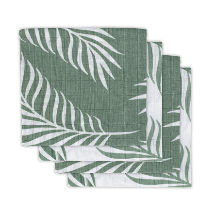 jollein Gauze plenky 4-pack Nature ash green 70x70cm
