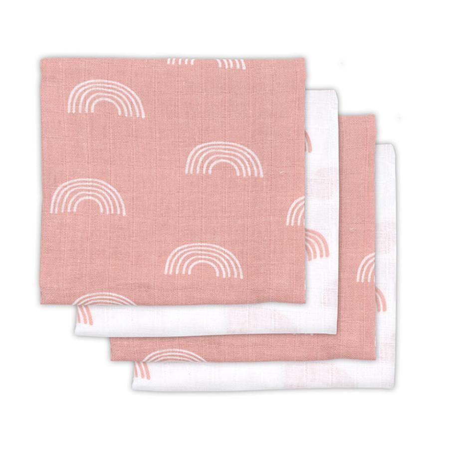 jollein Mullwindeln 4er-Pack Rainbow blush pink 70x70cm