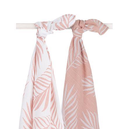 jollein Hydrofiele doek 2 stuks Nature Pale pink 115x115cm
