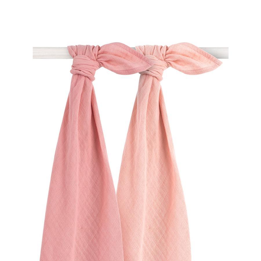 jollein Bamboo Mullwindeln 2er-Pack pale pink 115x115cm