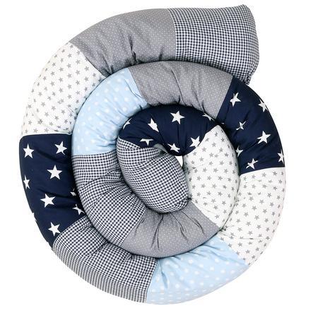 Ullenboom vauvan sänky käärme sininen vaaleansininen harmaa 300 cm