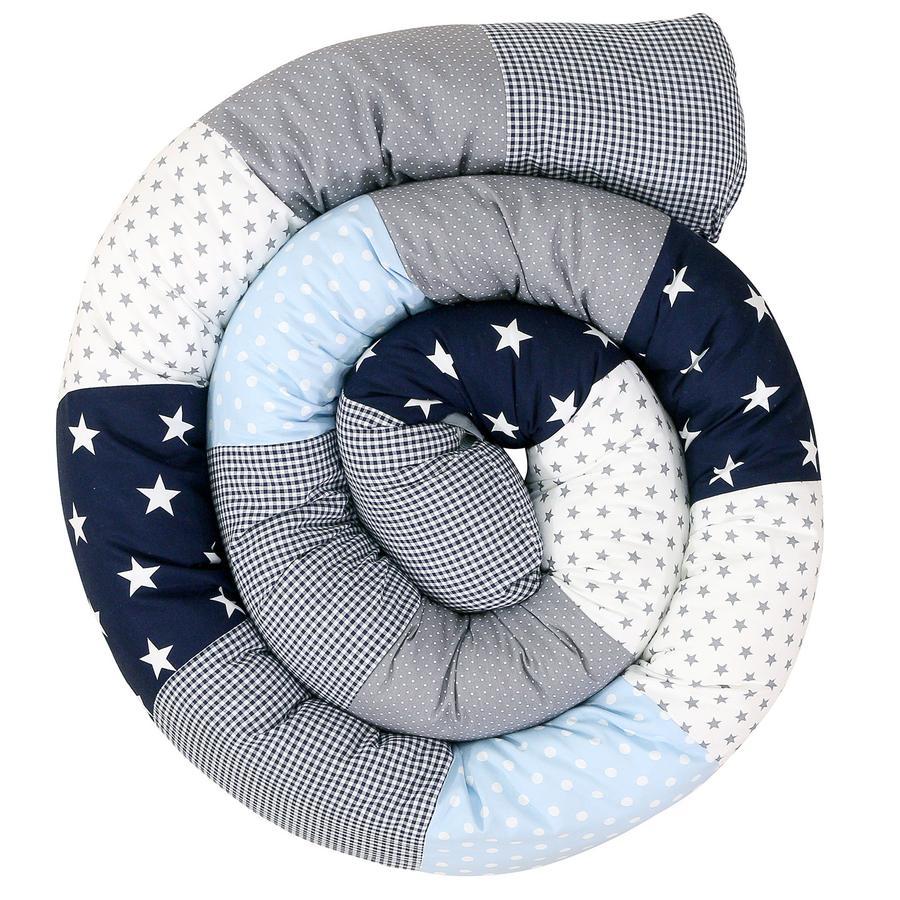 Ullenboom Baby-Bettschlange Blau Hellblau Grau 300 cm