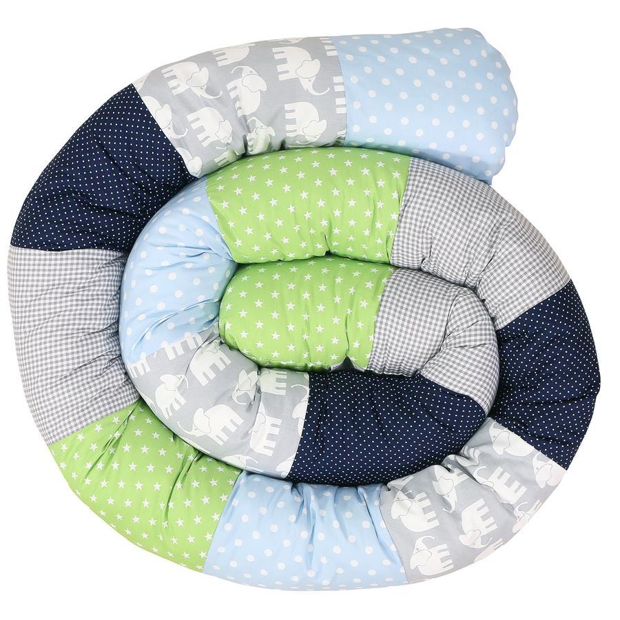 Ullenboom Vauvan sängyn käärme elefantti sininen vihreä 300 cm