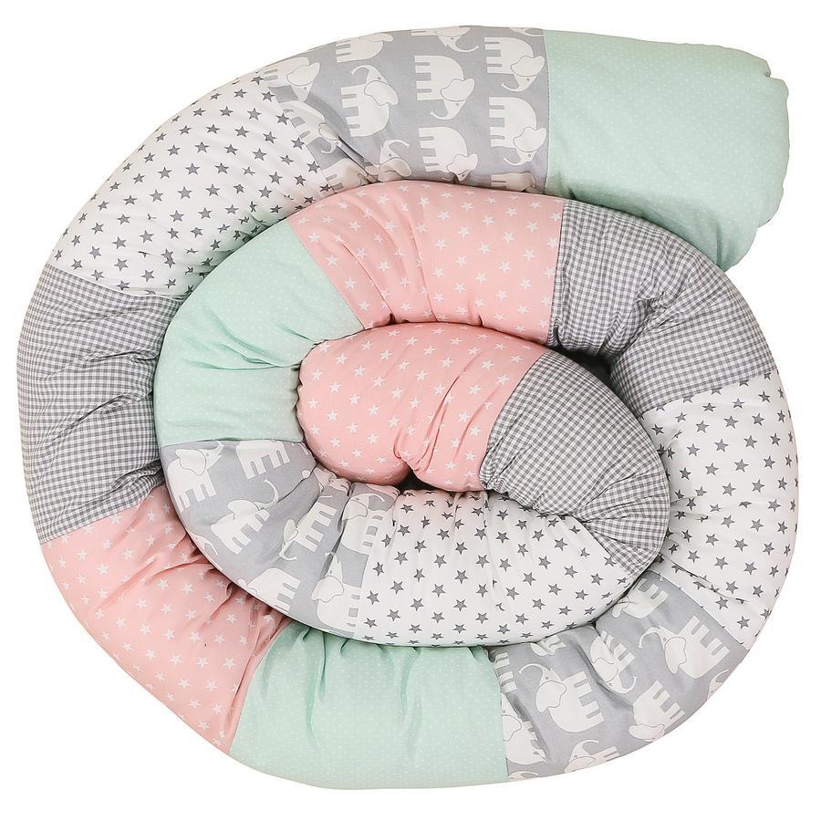 Ullenboom Dětská postel had slon máta růžová 300 cm
