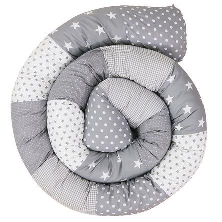 Ullenboom Tour de lit traversin enfant étoiles grises 300 cm