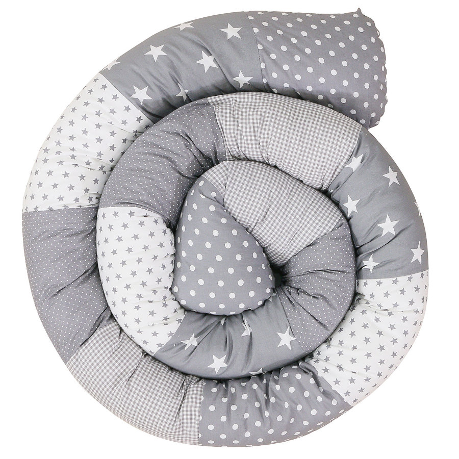 Ullenboom Baby-Bettschlange Graue Sterne 300 cm