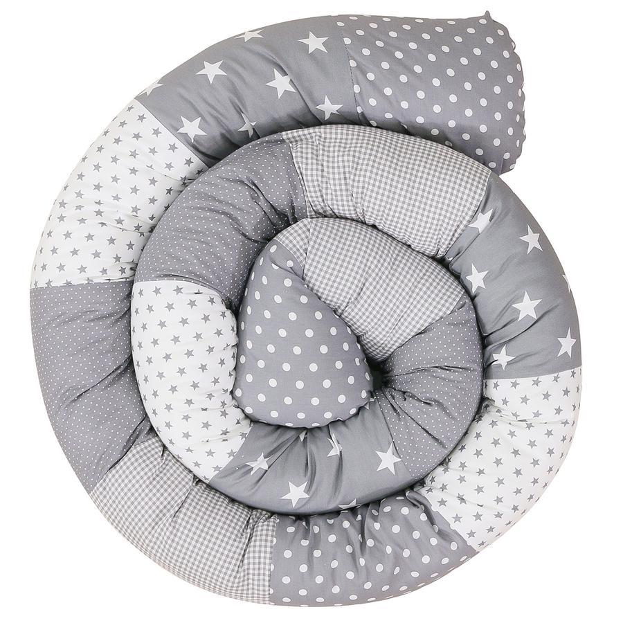 Ullenboom Ochraniacz do łóżeczka Grey Stars 300 cm