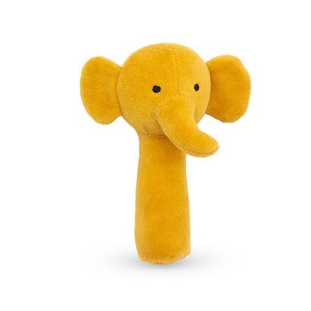 jollein Hochet éléphant jaune moutarde