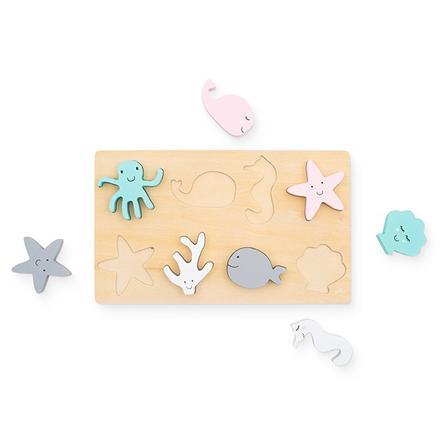 jollein Puzzle animaux marins bois