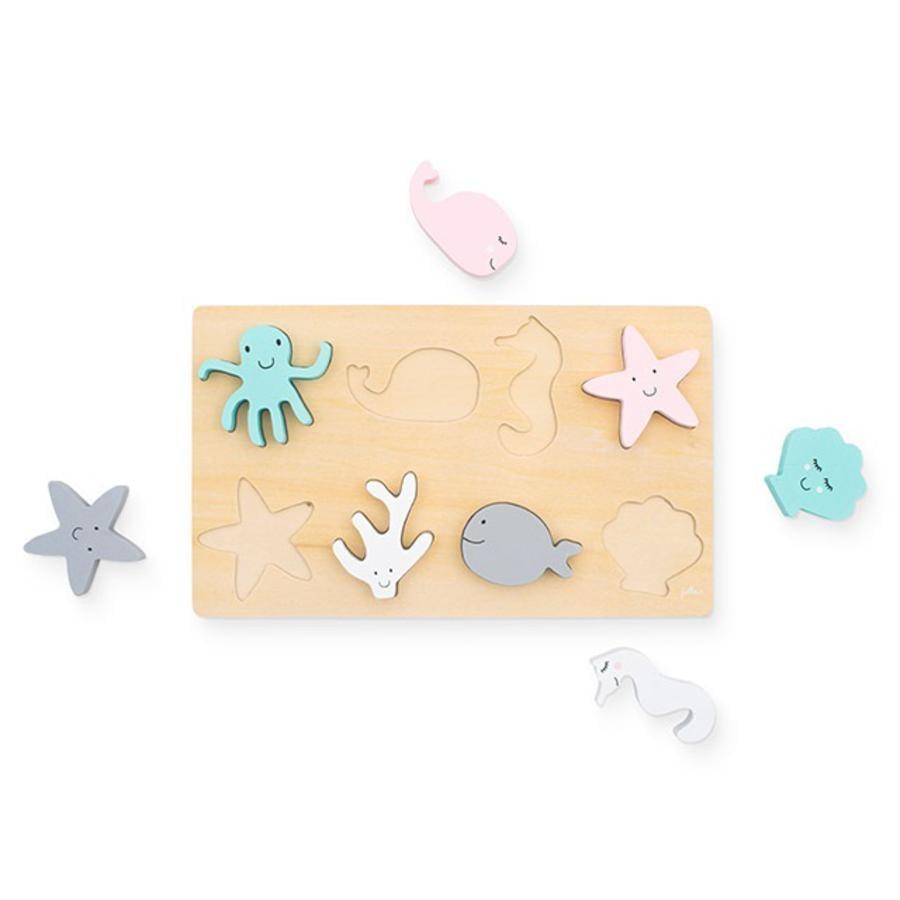 Jollein Puzzle dřevo Mořská zvířata