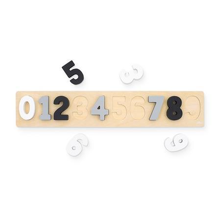 jollein Puzzle à chiffres bois blanc/gris