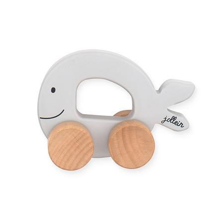jollein Figurine voiture animaux marins bois gris