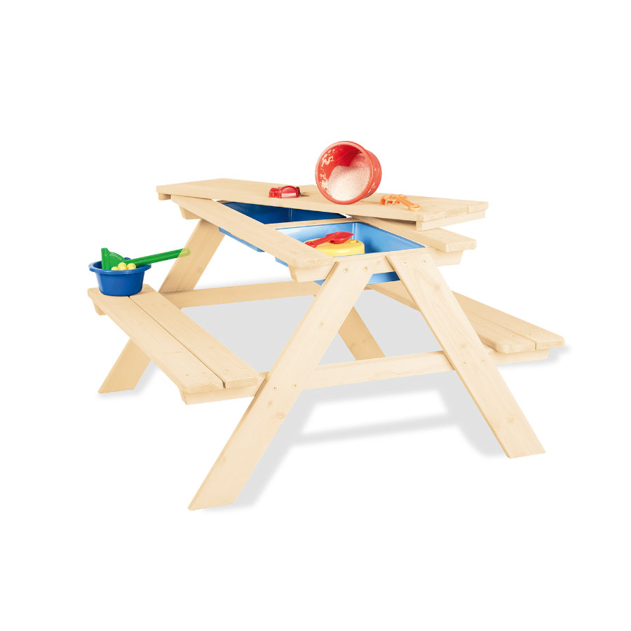 Pinolino Kindersitzgarnitur Matsch-Nicki für 4, natur