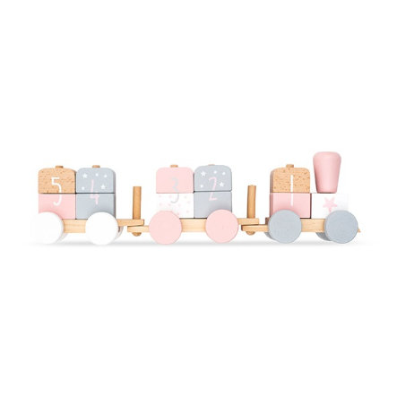 Jollein Spielzeug Zug white/pink